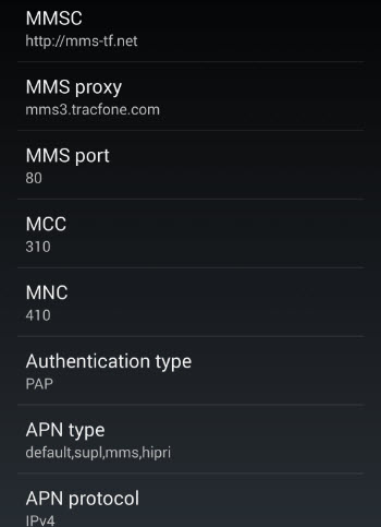 Nexus 5 Straight Talk LTE APN Settings part 2