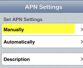 APN Settings manually iOS 8