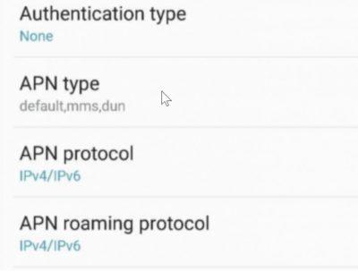 Correct APN Type for Straight Talk MMS Settings